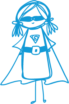 girl superhero blue - Free Assessment